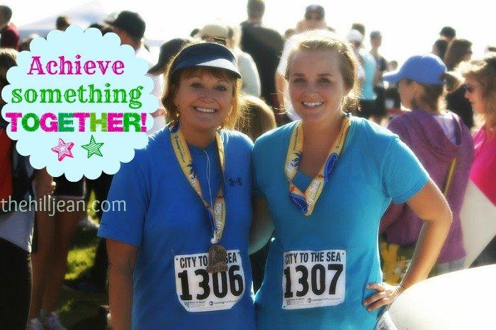 mom and daughter half marathon