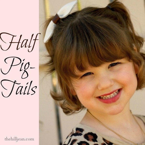 half-up pigtails
