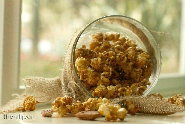 pecan praline popcorn recipe