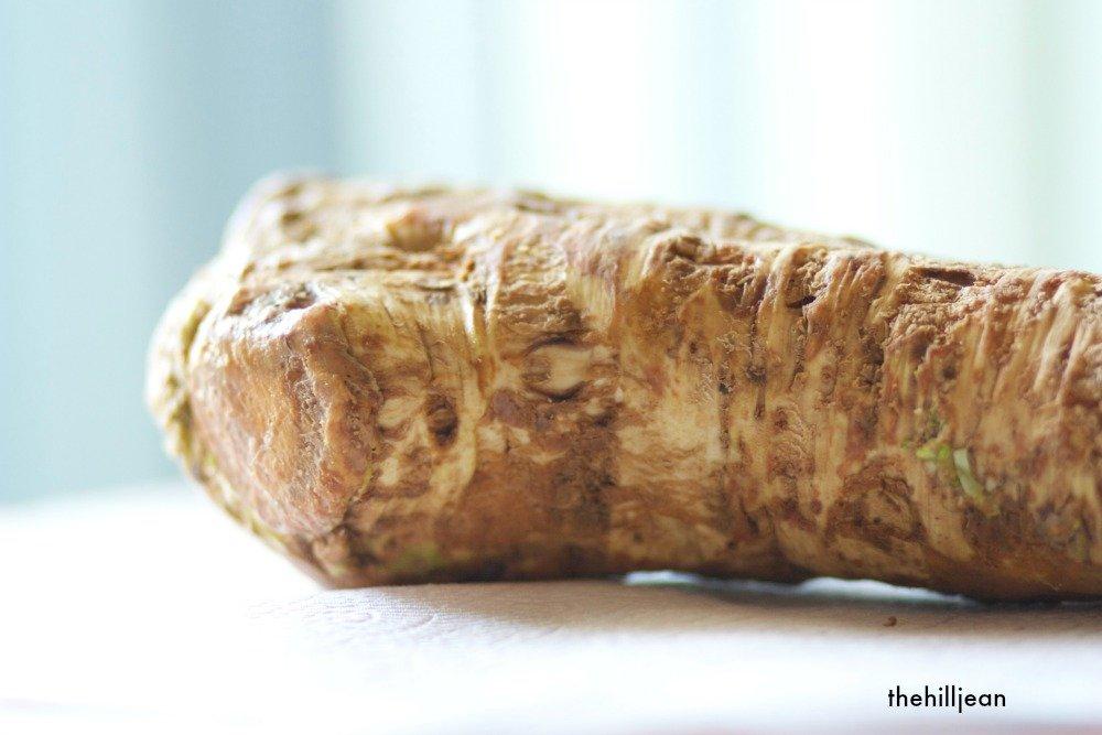 raw horseradish root