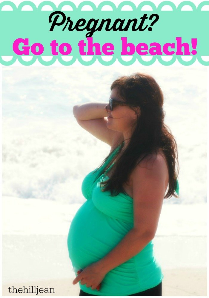 pregnant at the beach